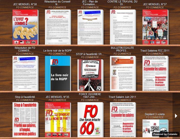 Publications FO en 1 clic dans DOSSIERS Calameo-FO-COMMERCE