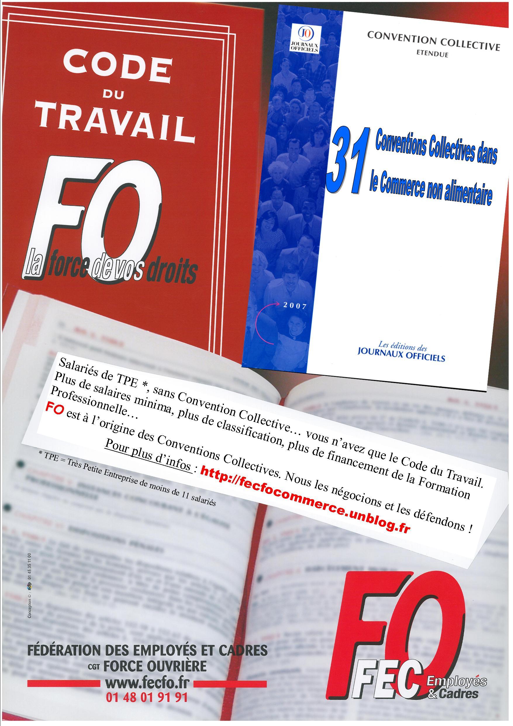 Troc Cri Juritravail  3082. Grands magasins et magasins populaires Convention