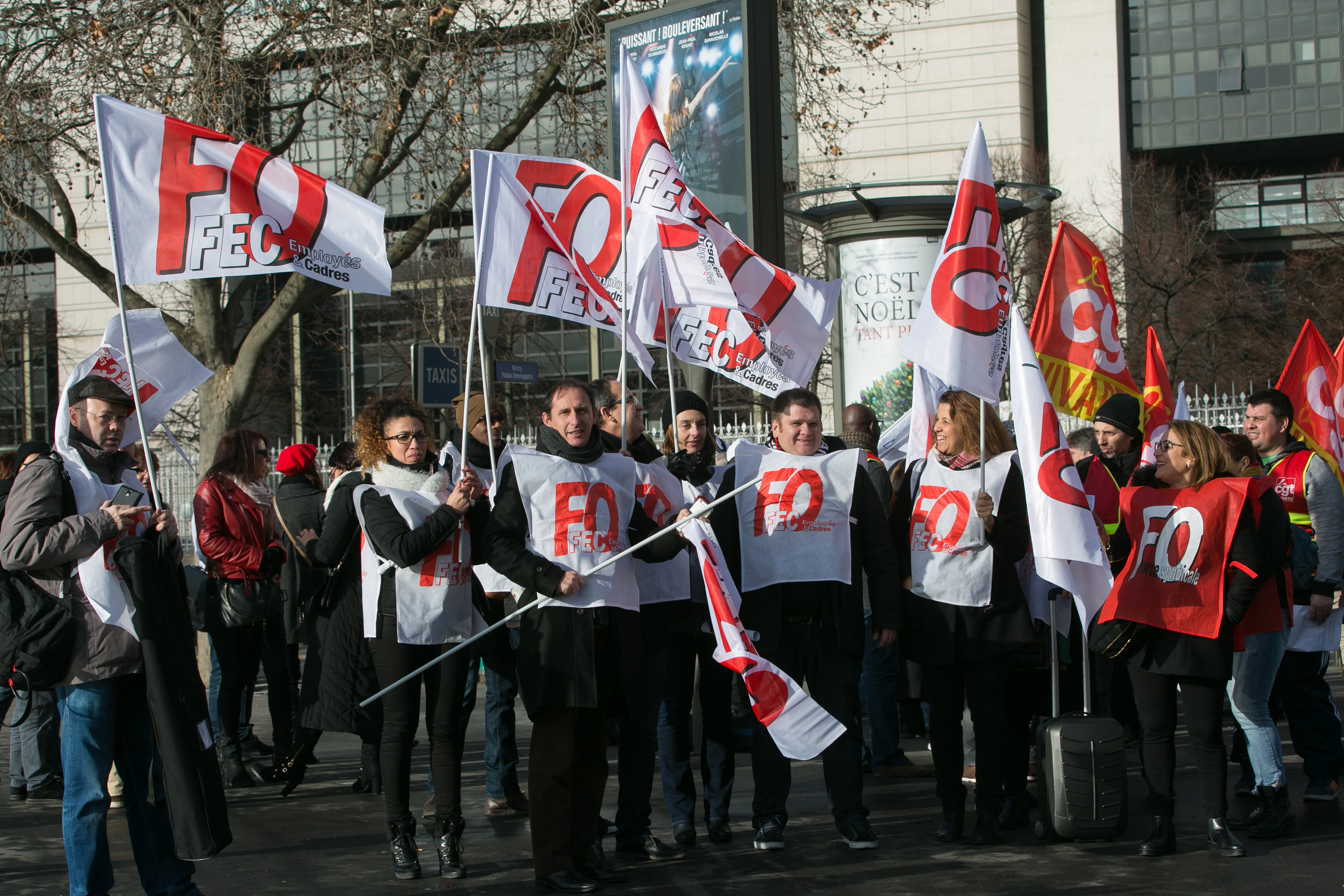 Rassemblement Vivarte devant Bercy